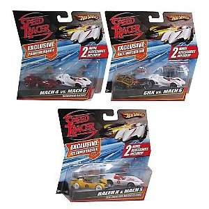 Hot Wheels Speed Racer Miniature Car Collection   (8) 2 Packs