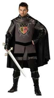 Size Super Deluxe Dark Medieval Knight Costume   Medieval Costumes