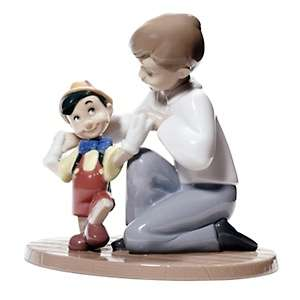 NAO Pinocchios First Steps Porcelain Figure Handmade by Lladro at