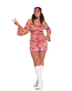 Womens Sexy Free Love Plus Size Costume   Sexy 60s Halloween Costumes