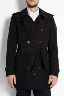 Burberry Brit  Black Check Lined Britton Packable Trench Coat by