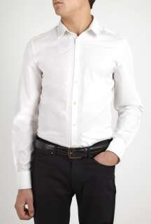 PS Paul Smith  White Embroidered Placket Dress Shirt by PS Paul Smith