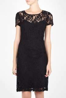 DKNY  Black Lace Seamed Dress by DKNY
