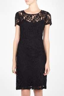 DKNY  Black Lace Seamed Dress by DKNY