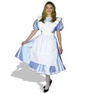 Alice Plus Adult Costume   Costume includes light blue satin dress