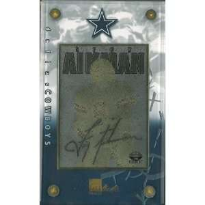 Troy Aikman unsigned Dallas Cowboys 24 Karat Gold Signature Card  LTD