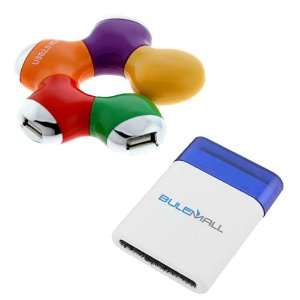 GTMax 4 Port High Speed USB 2.0 Hub For PC Computer Desktop Laptop