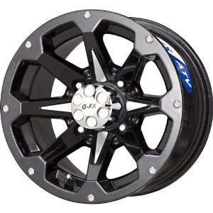 G FX Six Shooter Gloss Black Machined ATV Wheel (12x7