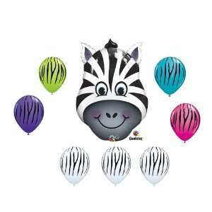 Latex Stripe Safari Jungle Animal Birthday Party Baby Shower Balloon