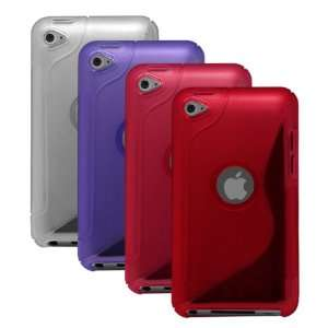 Apple iPod Touch 4 / 4th gen.   Clear, Purple, Hot Pink, Red Cell