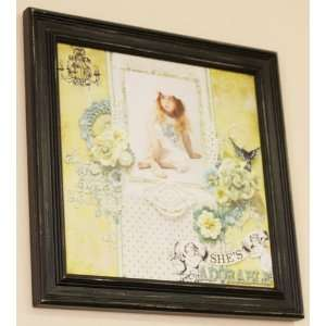Prima   12 x 12 Wood Frame   Antique Black Arts, Crafts & Sewing