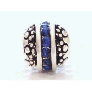 Authentic 925 sterling silver September birthstone charm fits pandora