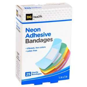DG Health Neon Adhesive Bandages   25 ct