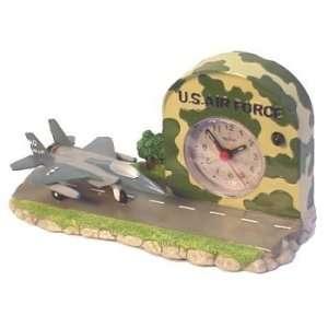 com US Air Force Army F 15 Aircraft Plane Alarm Clock Home & Kitchen