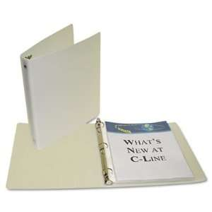 C Line 31617   Recycled Round Ring Binder, 1 Capacity, 175