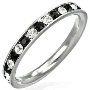 Bling Jewelry Sterling Silver Stackable Eternity Band Ring