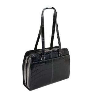 FEGINA (Black) Leather Ladies Laptop Tote Siamod Womens Briefcases