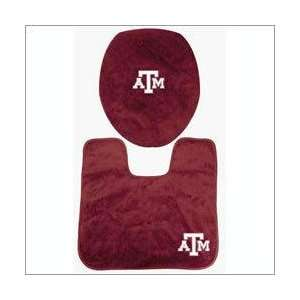 Texas A&M University Aggies Bath Mat Toilet Set Sports & Outdoors
