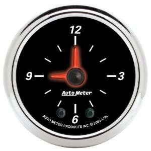 Auto Meter 1285 Designer Black II 2 Analog Illuminated Clock