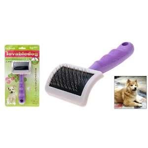 Como Purple Handle Pet Dog & Cat Bristles Grooming Brush
