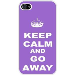 Rikki KnightTM Keep Calm or Go Away   Violet Color White Hard