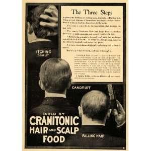 Hair Food Scalp Treatment Dandruff   Original Print Ad