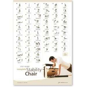 Stott Pilates Complete Stability Chair Wall Chart: Sports & Outdoors