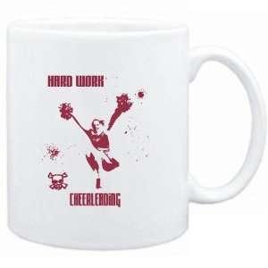 Mug White  HARD WORK Cheerleading  Sports Sports & Outdoors