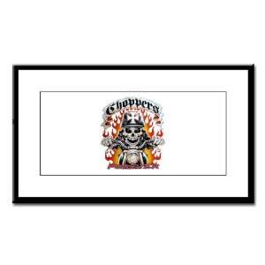 Small Framed Print Choppers Forever with Skeleton Biker