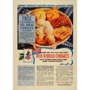 Ad Drifted Snow Flour Old World Christmas Cookies   Original Print Ad