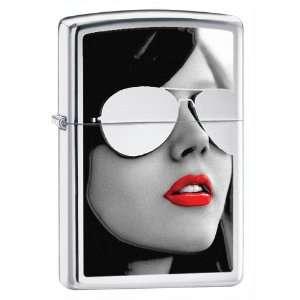 Zippo Lighter BS Sunglasses High Polished Chrome   Zippo
