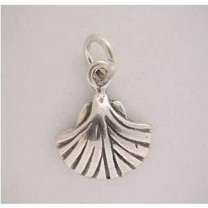 Silver SEA SHELL CHARM Clam Pretty* Jewelry