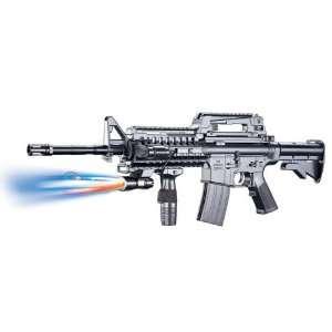M16A9 Assault Rifle Grip, Flashlight, Collapsible Stock Airsoft Gun