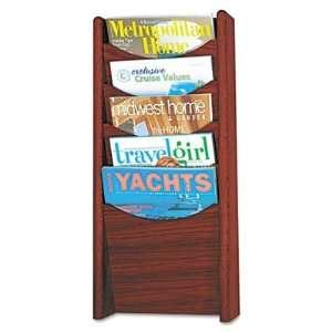 Wood Wall Mount Literature Display Rack SAF4330CY