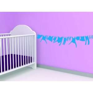Removable Wall Decals   Cloths Line