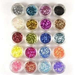 24 Color Nail Art glitter Powder Nail Tip Decoration Dust Acrylic and