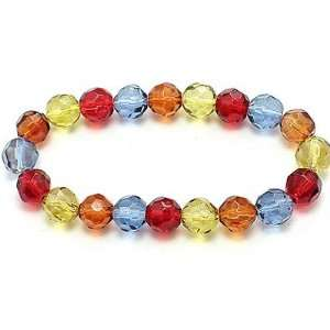 Multi Colored Crystal Faceted Beaded Bracelet Kitchen