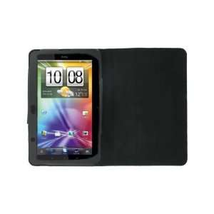 High Quality Black Leather Foldable Cover / Case Portfolio