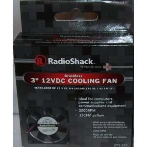 RadioShack 3 12VDC Brushless Fan 273 243