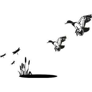 Ducks Landing In Pond Wall Decal Cabin Wall Decal 6 Decal Kit
