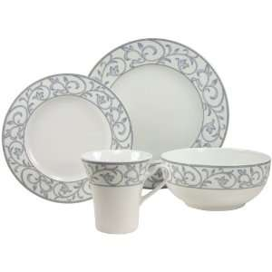 Piece Fine Porcelain Dinner Ware Set Avado Floral Decor: Kitchen