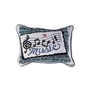 Set of 2 Music Lover Notes Decorative Throw Pillow 9 x 12