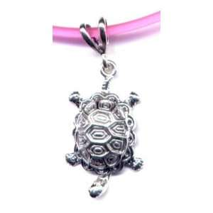 16 Pink Turtle Necklace Sterling Silver Jewelry