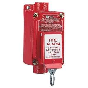FEDERAL SIGNAL MPEX Fire Alarm Pull Station,Red Home