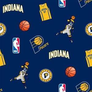 60 Wide NBA Fleece Indiana Pacers Tossed Fabric By The
