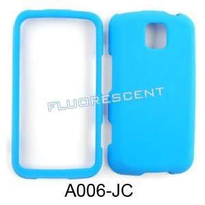 LG Optimus M MS690 Fluorescent Solid Light Blue Hard Case/Cover