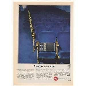 1963 RCA Victor Liberty AM/FM Radio Front Row Seat Print Ad