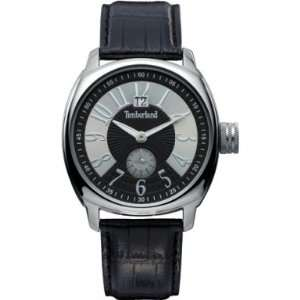 .07 Mens Portosera Black Leather Strap Watch