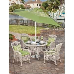 Resin Wicker Outdoor Glass Top Dining Set Patio Furniture Patio, Lawn