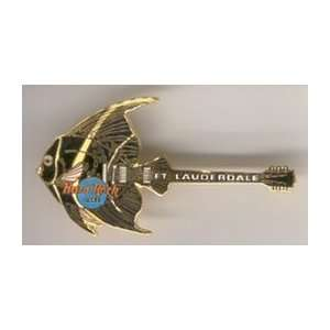 Hard Rock Cafe Pin 2435 Fort Lauderdale Fish Guitar